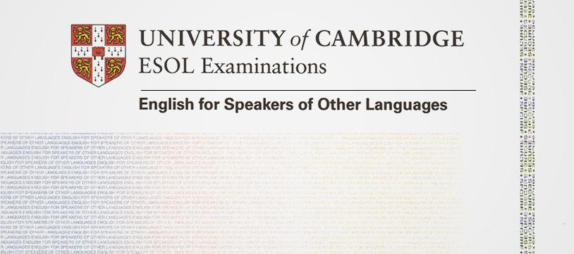 Exámenes ESOL Cambridge